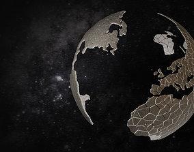Broken earth 3D model