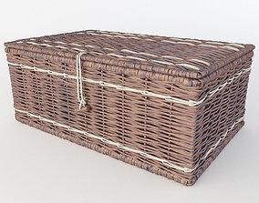 Wicker basket 3D household