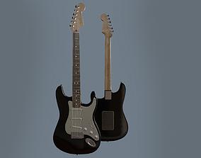 Fender Stratocaster Black 3D