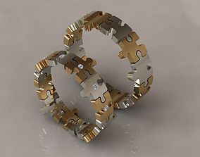 3D printable model puzzle set rings