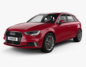 Audi A3 sportback with HQ interior 2016 3D model