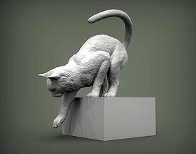 Cat for 3d printing sculpture souvenir