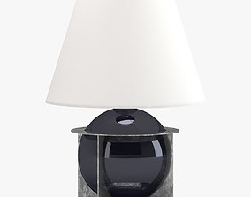 3D model Black And White Round Table Lamp