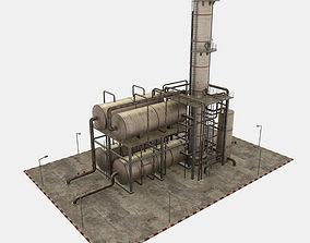 3D model Oil Refinery Module