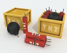 TNT pack cartoon 3D model