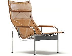 Lounge Chair 3D Model chrome