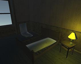 3D asset homeless room