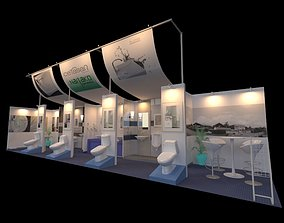 Nagako 3 x 12 Booth 3D model