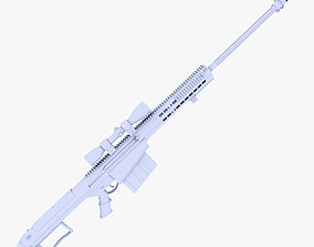 3D model Barrett M107A1 Sniper Rifle