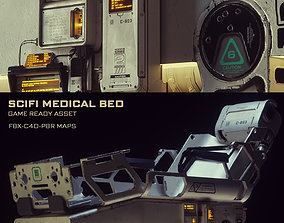 3D Scifi Medical Bed - Game Ready