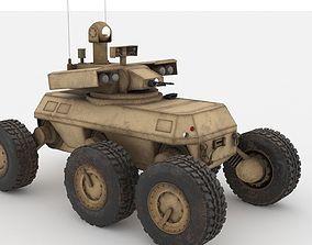 3D model Armed Robotic Vehicle MULE XM1219