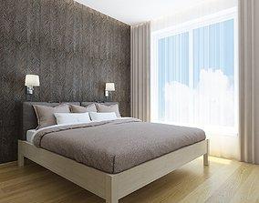 Cozy small bedroom 3D