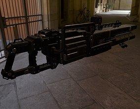 3D model Scifi Plasma Rail Gun