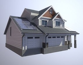 Modern Suburban House 1 3D asset