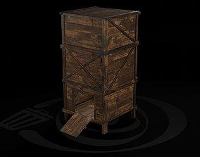 AAA Wooden Enterable Medieval Primal Watchtower 3D model 1