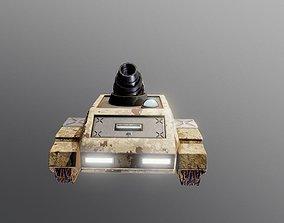 3D asset Mortar Tank