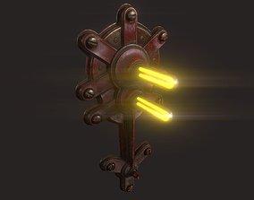 3D asset Steampunk Lamp 02