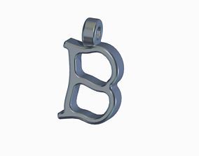 Stylish Letter B-Pendant 3D printable model