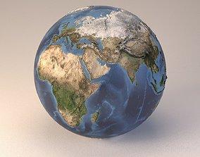 3D model Earth globe embossed