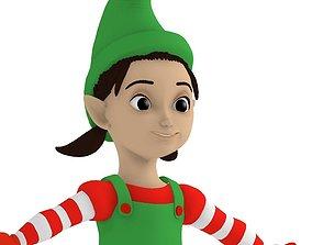Cartoon elf girl 3D