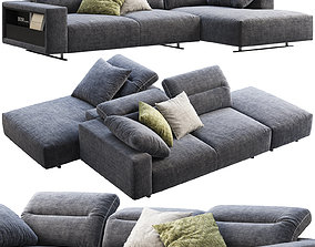 BoConcept Hampton chaise lounge fabric sofas 2 options 3D
