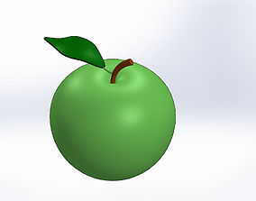 Apple-Elma-Solid Works-sldprt-ACIS - STL 3D model