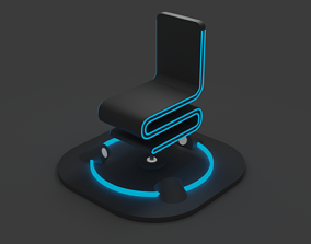 3D print model Futuristic MagLev Chair