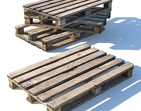 3D model Old dirty pallet