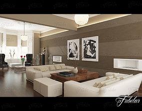 interior vases Living Room 3D