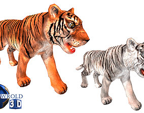 Tiger Rigged Animated Lowpoly 3D Model Collection Pack