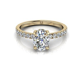 3D print model Engagment Jewelry Ring 207