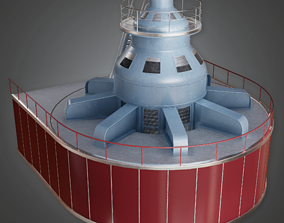 3D model Hydro Electric Turbine - GEN - PBR Game Ready