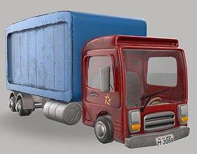 Cartoon Red Truck PBR 3D model