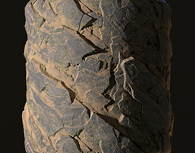 Sharp rock 3D asset