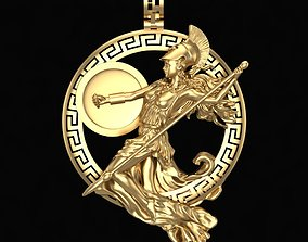 Pendant goddess Athena 3D printable model