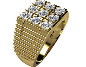 Woman Ring 3d Pring Model brilliant accessory