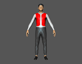 Character people man rigged 3D asset