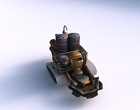 Game ready military vehicle 14 3D asset