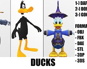 3D model animated Donald Duck