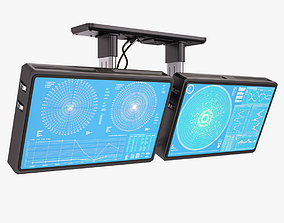 3D model Sci Fi Monitors