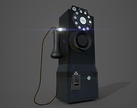 3D asset 1930 Old Payphone