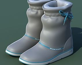 Winter shoes 01 grey blue 3D model
