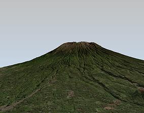 realtime Mount Agung volcano Bali 3d model