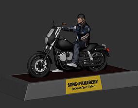 Sons Of Anarchy SOA - Jax Teller 3D Print High Detailed