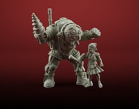 3D printable model little sister with bigdaddy