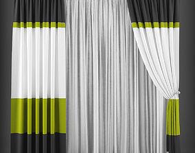 VR / AR ready Curtain 3D model 172