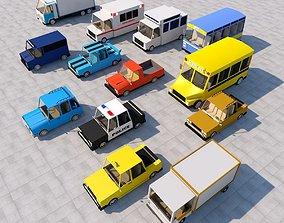 Cartoon car pack 3D