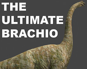 animated The Ultimate Brachiosaur - 3d model a