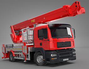 Palfinger 480 Mobile Crane 3D animated