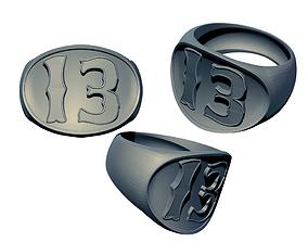 3D printable model Lucky 13 Ring